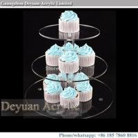 Buy cheap acrylic cake stand Crystal tiered cupcake stand for weddings from wholesalers