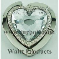 Buy cheap PROMOTIONAL GIFTS Stone Heart Foldable Purse Hanger from wholesalers