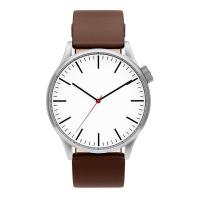 Buy cheap Brown Leather Strap Watch Simple Mens Leather Watches from wholesalers
