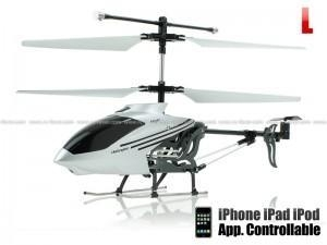 Quality Seasonal Sale Happy Cow 777-173 iPhone Control Infrared 3CH Large Size iHelicopter w/ Gyro (Silver) for sale