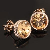 Buy cheap Cheap Topaz Stud Diamond Earrings Item: E0046 from wholesalers