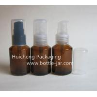 Buy cheap Glass Bottles 30ml amber glass bottles with lotion pump XJP302430ml Stock XJP3024 from wholesalers
