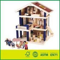 Buy cheap EN71 Wooden Doll House with Furnitures from wholesalers