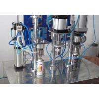 Buy cheap aerosol can filling machine for small industry spray air fre from wholesalers