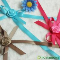 Buy cheap Lace PC Adhesive satin ribbon bow for packaging from wholesalers