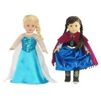 Buy cheap 18-inch Doll Clothes - Princess Elsa and Anna Inspired Outfit Set - fits American Girl  Dolls from wholesalers