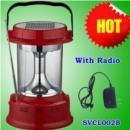 China Solar Camping Light 0.7W Solar Lantern Light with Radio on sale