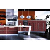Buy cheap Kitchen Cabinet good price red Acrylic kitchen cabinet in hot sale from wholesalers