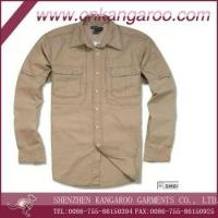 Buy cheap Mens 100%cotton military shirt, US army shirts, long sleeve shirts from wholesalers