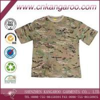 Buy cheap Short Sleeves Pure Cotton 6 Colors Desert Camouflage Military T-shirt from wholesalers