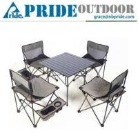 Buy cheap 5 PCS Garden Furniture Cast Aluminium Camping Folding Table Chair from wholesalers
