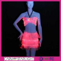 Buy cheap Light up women clothes YQ-02-24 luminous sexy tops mini skirt from wholesalers