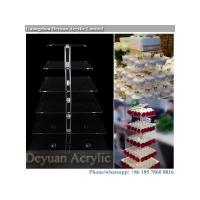Buy cheap 3 4 6 7 8 tiered square cupcake cake stand clear custom made from wholesalers