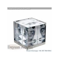 Buy cheap Prismatice diffuser sheet 3D acrylic cube photo picture frame from wholesalers