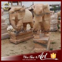 Buy cheap Outdoor Red Marble Elephant Animal Sculpture from wholesalers