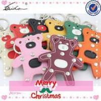 Buy cheap SUPPLY CHRISTMAS KEYTAGS CHAIN ORNAMENT ANIMAL LEATHER GIFTS product