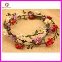 Buy cheap Paper flower Headband -Flower Crown- Boho Bridal hair band- Beach hair wear from wholesalers