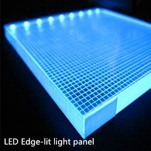 Led acrylic edge lighting