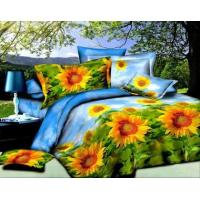 Buy cheap 3D Soft Microfiber Yellow Sun Flower Prints Bedding Sheet Set Queen King (Y-12) from wholesalers