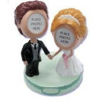 Buy cheap Resin bobblehead cake toppers product