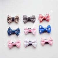 Buy cheap Newborns Leopard Thin Hair Bow Clips For Babies Hair Accessories from wholesalers
