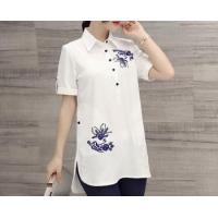 d73283h 2016 summer fashion women blouses tops wholesale women clothing shirts women