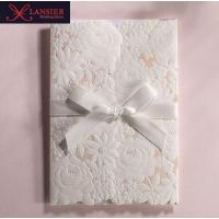 Buy cheap Romantic Wedding Invitation Card With Lace Ribbon Bow For Birthday Business Party Event from wholesalers
