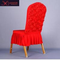 Buy cheap spandex rose flower chair covers for wedding from wholesalers