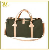 Buy cheap Mens Travel Fashion Canvas Duffel Bag, Mixed Leather Duffel Bag Manufacturer from wholesalers