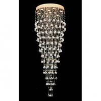 Buy cheap 10 Lights Contemporary Circle Crystal Chandelier with Gold plated Base from wholesalers