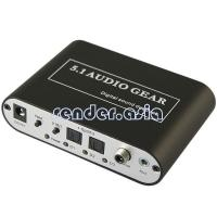 Buy cheap DTS AC3 Digital to Analog Stereo 5.1 Audio Gear Digital Sound Decoder from wholesalers