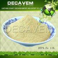Buy cheap DTPA Fe, DTPA Iron chelated micronutrients fertilizer, yellow brown powder, Ferric 11% from wholesalers