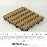 Buy cheap WPC DIY tiles anti-slip DIY WPC decking product