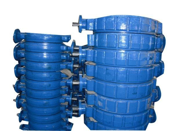 Butterfly valve the wafer of large diameter