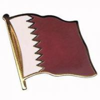 Buy cheap Hot product Metal national country qatar flag pin product