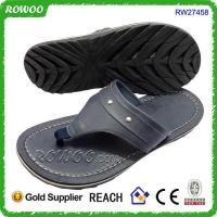 cheap whosale New arrival hot sale leather man slipper
