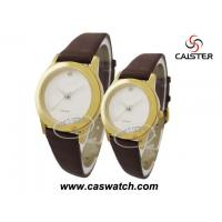 Buy cheap Plain Brown leather pair watch from wholesalers