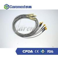 Buy cheap Gold plating copper EEG cable with eeg electrodes from wholesalers