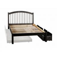 Buy cheap Alaska Spindle Headboard Platform Bed with Drawers in Java from wholesalers
