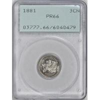 Buy cheap 1881 Nickel Three-Cent Piece PCGS Proof-66 OGH (1st Gen) from wholesalers