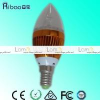 Buy cheap High quality Super bright 12V 120V 270V e27 e14 Cree dimmable solar Led candle lamp LED candle light from wholesalers