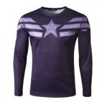 Buy cheap Mens Casual Long Sleeve T-shirt Compression Sports Blouse from wholesalers