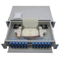 Buy cheap Outdoor optic cable Rack Mount Fiber Optic Patch Panel White product