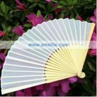 Buy cheap A0801 Silk Chinese Folding Bamboo Fan from wholesalers