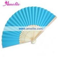Buy cheap AF148 Blue Theme! Spanish Wedding Fan Paper from wholesalers
