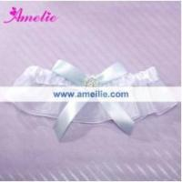 Buy cheap AG40 White soft lace sexy garters from wholesalers