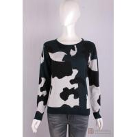 Buy cheap P-039 Womens crew neck long sleeves jacquard knit pullover, Spring/Summer viscose/cotton sweater from wholesalers