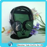 Buy cheap black tabletop acrylic headset display stands lucite headphone holder perspex earphone rack from wholesalers