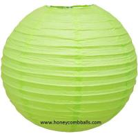 Buy cheap Light Green Paper Lanterns Decorations for Christmas Baby Shower from wholesalers