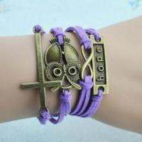 Buy cheap Religious Cross Night Owl Hope Multi-Strand Wrap Bracelet product